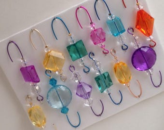 Beaded Christmas Ornament Hanger Hook Assortment - FREE SHIPPING