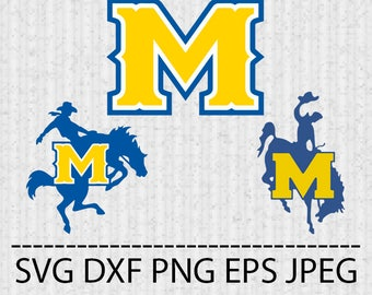 SVG McNeese State Cowboys Logo Vector Layered Cut File Silhouette Cameo Cricut Design Template Stencil Vinyl Decal Tshirt Transfer Iron on
