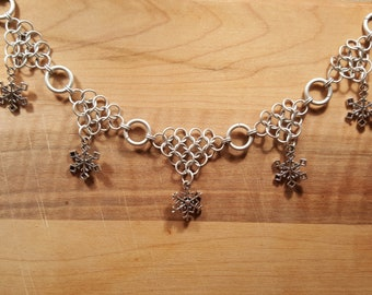 Cascading Snowflake Necklace