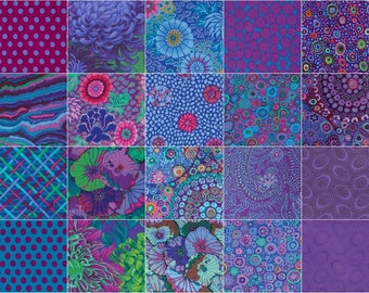 """Kaffe Fassett Collective Classics - Peacock - Layer Cake - (42) 10"""" Squares"""