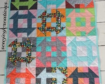 Churn, Baby, Churn baby quilt PDF pattern