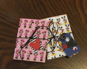 Customized Monogrammed Mickey or Minnie Journal with Tags