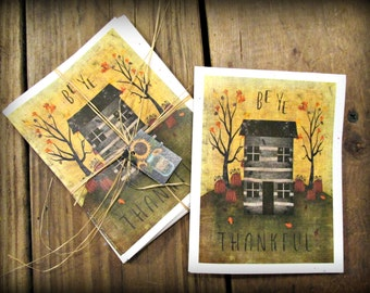 Be Ye Thankful Note Cards - FREE SHIPPING