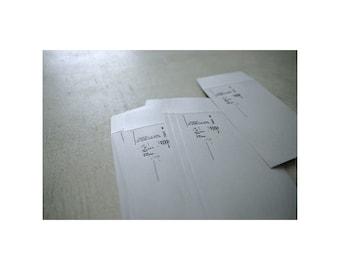 Yohaku Original Japanese Letterpress Paper Envelopes M-02