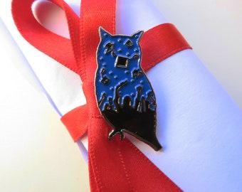 Graduation Owl Enamel Pin - Brooch