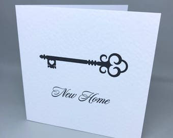 New Home - greeting card for moving house or a new home