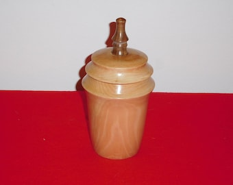 Lidded Sycamore vessel