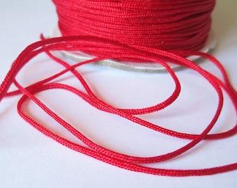 5 m 1.5 mm red nylon string