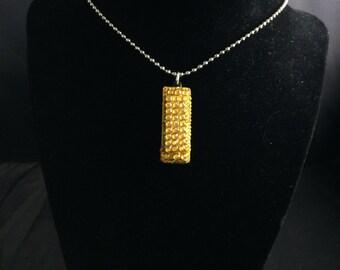 Yellow Mini Harmonica Necklace