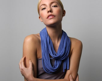 Infinity Scarf, Blue Scarf, Festival, Gift for Women, Statement Necklace, Gift for Mom, Festival Clothing, Girlfriend Gift, Womens