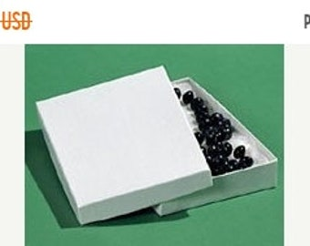 TAX SEASON Stock up 20 Pack Cotton Filled white Color Jewelry Gift and Retail Boxes 5.25X 3.75X 1 Inch Size