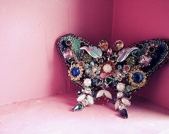 Bejewelled Butterfly - OOAK Brooch - Ready to ship x