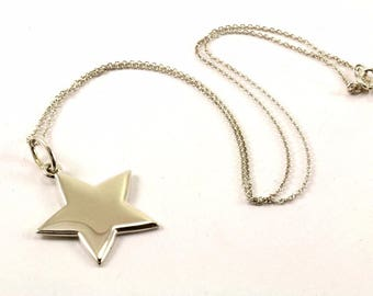 VERY RARE and HTF - Tiffany & Co. Sterling Silver Star Necklace