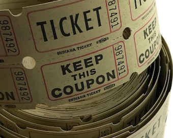50 Vintage Light Green Double Raffle Tickets