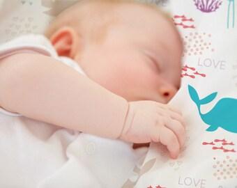 "Baby blanket ""Little Whale"""