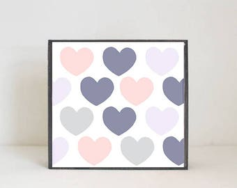 boho nursery, heart nursery art, woodland nursery, gender neutral baby, wall decor, boho geometric prints, nursery art, redtilestudio