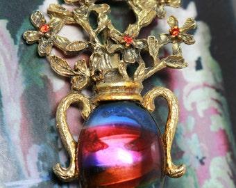 Renaissance dress, Mom floral jewelry, Mom floral brooch, Sister jewelry idea, Mom jewelry idea, Her flower brooch, Mom Rainbow jewelry