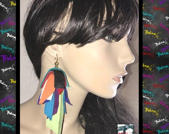 suede earrings,leather earrings,suede fringe,leather fringe,fringe earrings,diva earrings,handmade earrings,gypsy earrings,