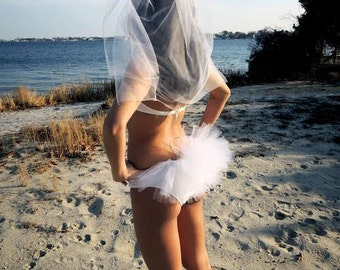 Bikini Veil, Booty Veil, Hair Veil, Hen Party