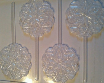 Snowflake Chocolate Lollipop Mold