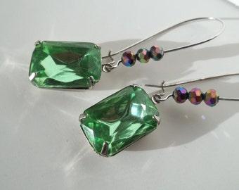 Peridot Green Earrings