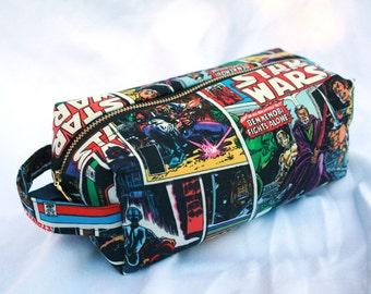 Toiletry Bag - Retro Star Wars- Empire Strikes Back- Luke, Leia, Obi Wan Kenobi - School Supplies - Electronics case- Graduation Gift
