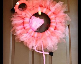 Flamingo Wreath