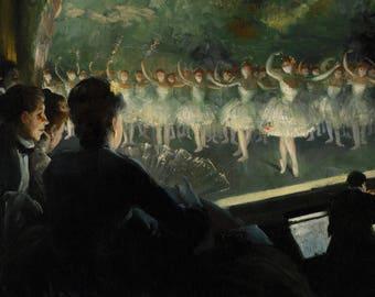 Everett Shinn: The White Ballet. Fine Art Print/Poster. (4838)