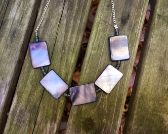 Gray Squares Necklace