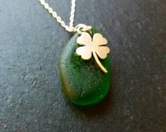clover necklace, shamrock necklace, st patricks day, sterling silver clover necklace, irish necklace, four leaf clover necklace