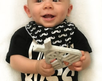 Mo' Mustache Bibs and Teethers