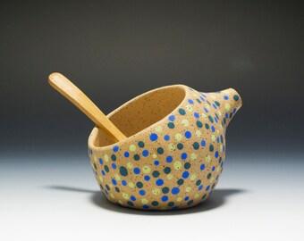 The BEST Handmade Stoneware Salt Pig / Salt Cellar / Salt Shaker 16-063