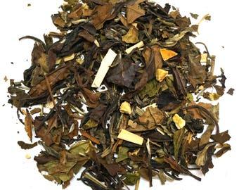 LEMON GINGER WHITE - Loose Leaf Tea - Top Selling Exotic Tea - Flavored Tea - Tea Sampler - 10g - 25g - 50g