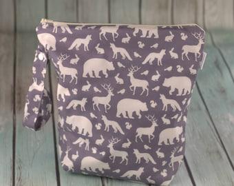 Gray/Ivory Woodland Wet Bag