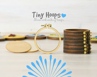 "DIY Mini Hoop Frame - 2.2""/5.5CM Hoop - Miniature Embroidery Hoops - DIY Mini Hoop Kit - Mini Hoop - Mini Hoop Necklace - Mini Hoop Brooch"
