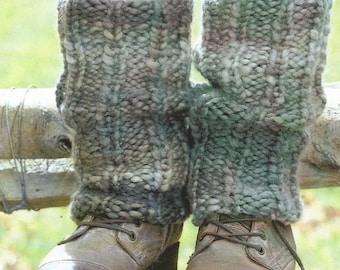Instant Download - PDF- Lovely Leg Warmers, Hat, Fingerless Gloves & Poncho Knitting Patterns (KA8)