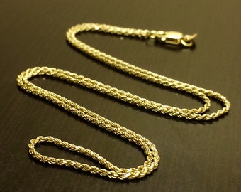 14K Yellow Gold Necklace - 14K Gold Rope Chain - Rope Chain - Gold Chain - 14K Gold Chain - Yellow Gold Rope Chain - Rope Chain Necklace