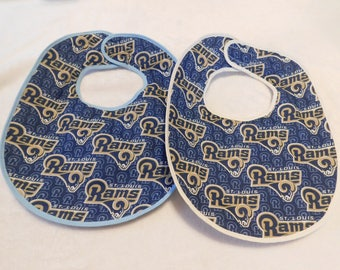 Baby bib featuring the St. Louis Rams Football Team