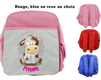 """BACKPACK CHILD """"LITTLE COW"""" PERSONALIZED WITH CHILD'S NAME"""