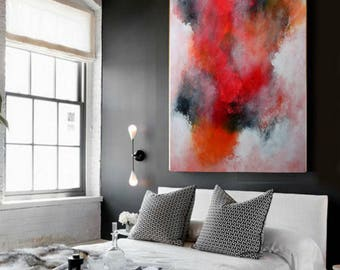 abstract painting  wall art  abstract art  acrylic painting  original painting  large painting  painting  .  Ready to hang .