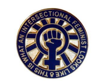 This Is What An Intersectional Feminist Looks Like - 25mm Enamel Lapel Pin