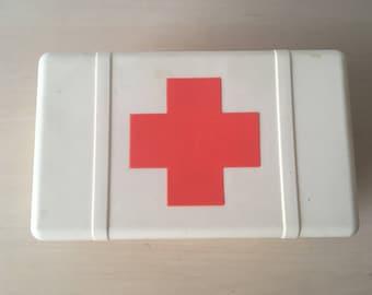 Soviet Vintage First Aid Box, Red Cross Box, Medical Box