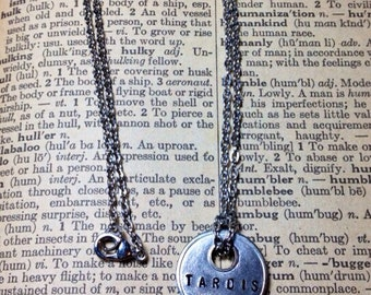 Steampunk Doctor Who Inspired TARDIS Key Necklace