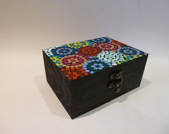 Handpainted Aboriginal painting inspiration - box colors