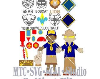 SVG Cut File Boy Scouts Bundle Cut Files MTC  SCAL Cricut Silhouette Cutting Files
