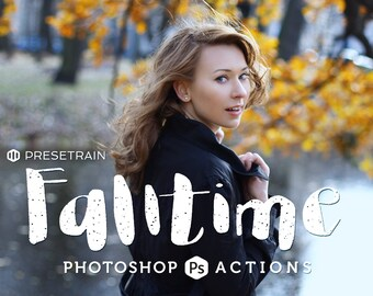 Falltime Photoshop Actions - set of 4 autumn toning actions for Adobe Photoshop CS4, CS5, CS 6 and CC - fall colors for outdoor portraits