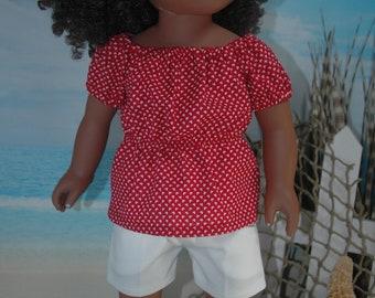 American, Made, boy, girl, doll, white, denim, doll, shorts, 18 inch, doll clothes