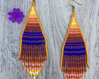 Bohio - Fringe bead earrings