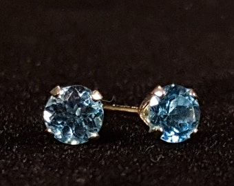Vintage Topaz and Sterling Silver Stud Earrings - .82 carats TW