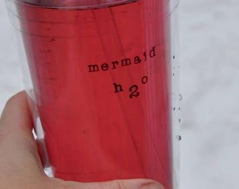 Mermaid water bottle mermaid birthday mermaid party the little mermaid mermaid bottle water bottle tracker gym water bottle workout bottle
